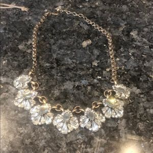 """Gold and jewel necklace, 8"""" long"""